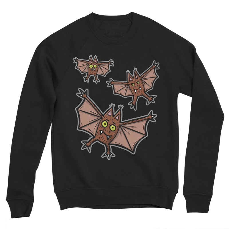 BATS!!! - for black shirts Women's Sweatshirt by Animal Monster Robot