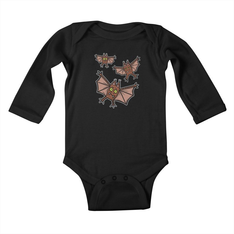 BATS!!! - for black shirts Kids Baby Longsleeve Bodysuit by Animal Monster Robot