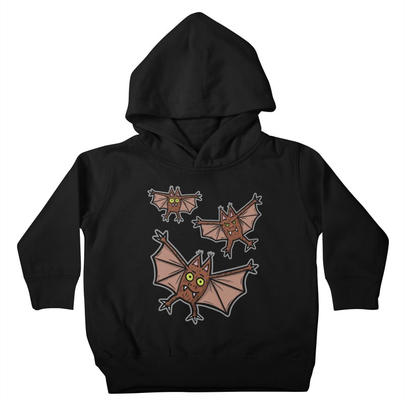 BATS!!! - for black shirts Kids Toddler Pullover Hoody by Animal Monster Robot