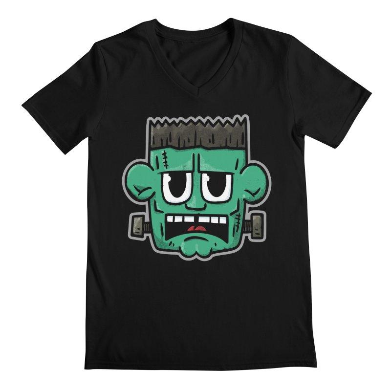 Frank's Monster - for black shirts Men's V-Neck by Animal Monster Robot