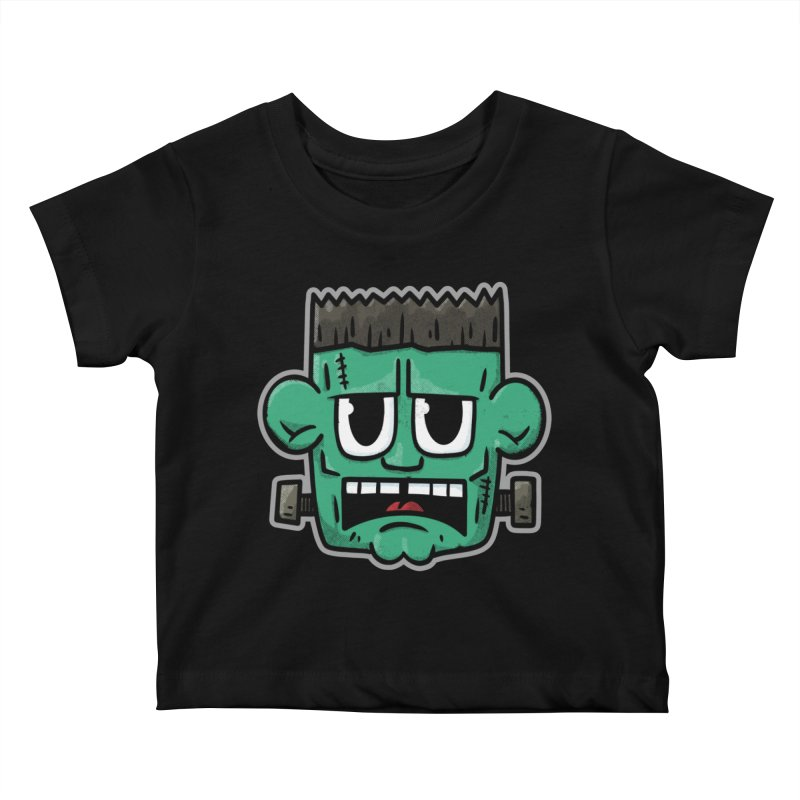 Frank's Monster - for black shirts Kids Baby T-Shirt by Animal Monster Robot