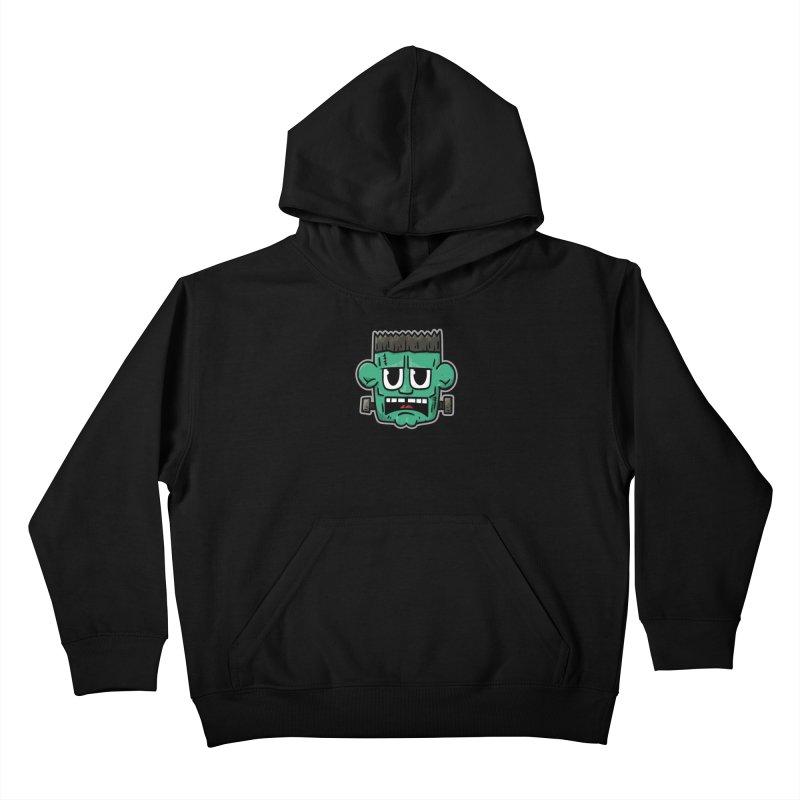 Frank's Monster - for black shirts Kids Pullover Hoody by Animal Monster Robot