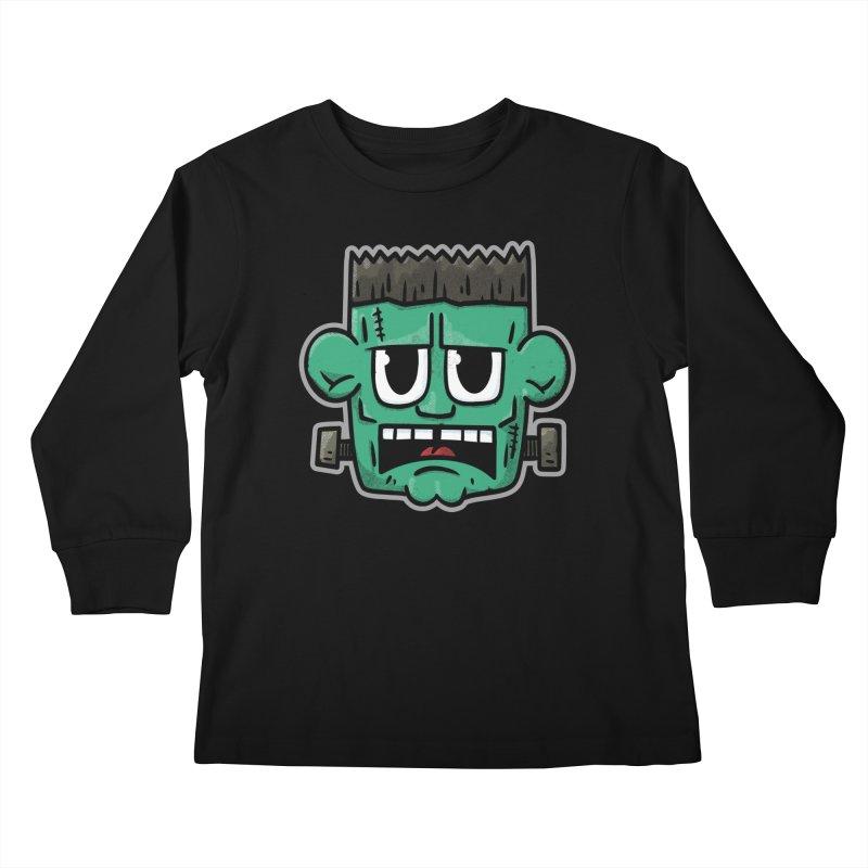 Frank's Monster - for black shirts Kids Longsleeve T-Shirt by Animal Monster Robot