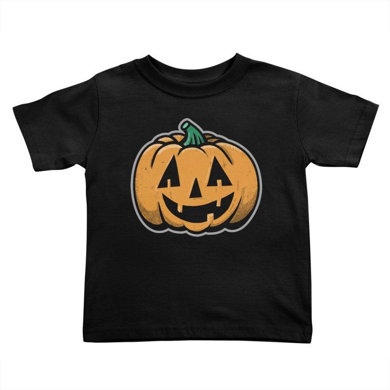 Jack-O-Lantern - for black shirts Kids Toddler T-Shirt by Animal Monster Robot