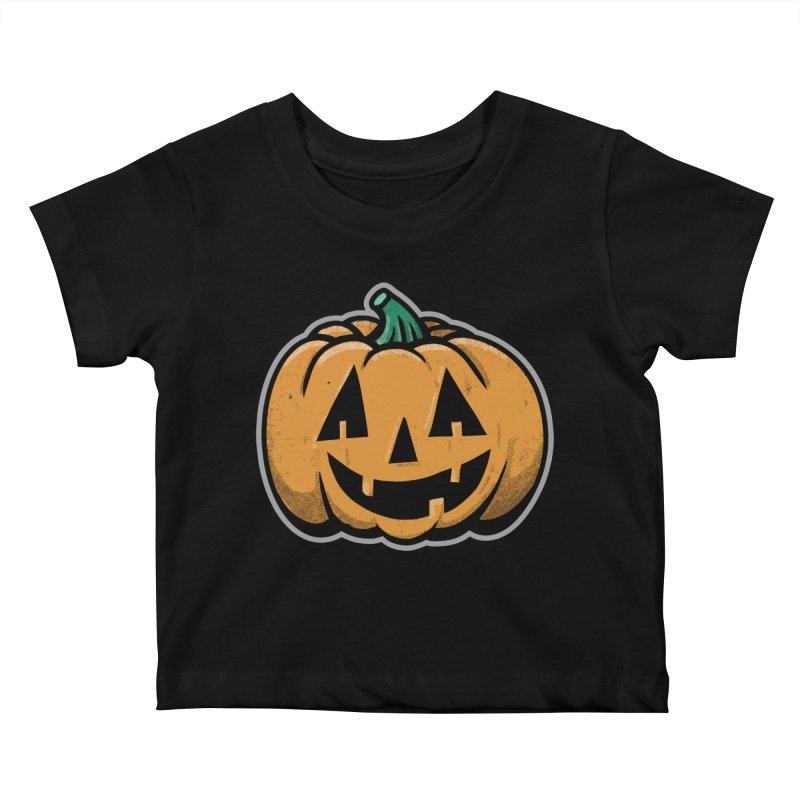 Jack-O-Lantern - for black shirts Kids Baby T-Shirt by Animal Monster Robot