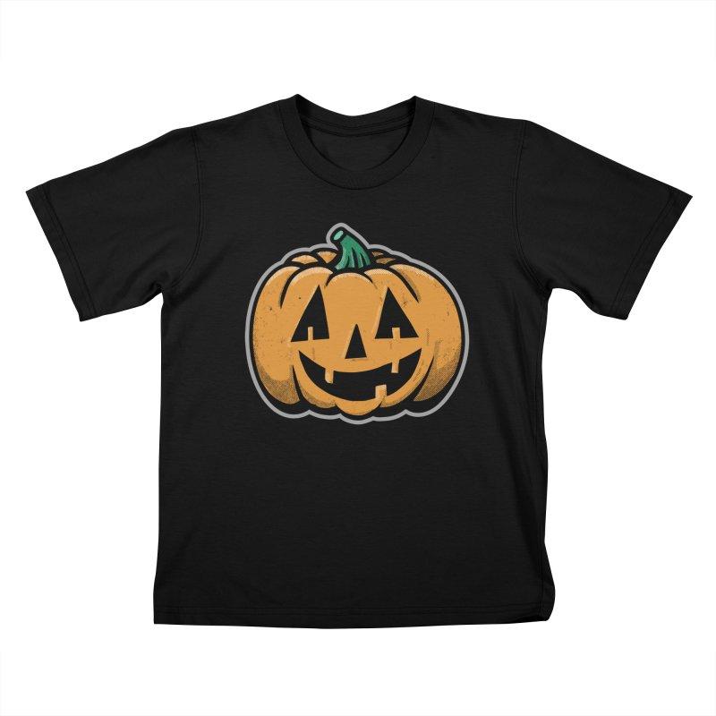 Jack-O-Lantern - for black shirts Kids T-Shirt by Animal Monster Robot