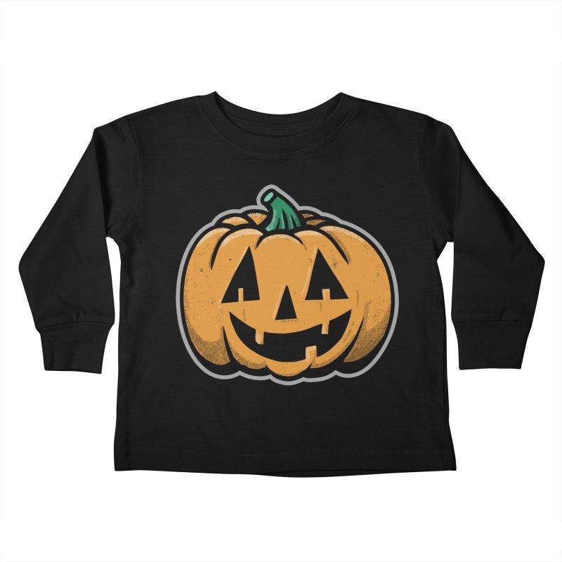 Jack-O-Lantern - for black shirts Kids Toddler Longsleeve T-Shirt by Animal Monster Robot