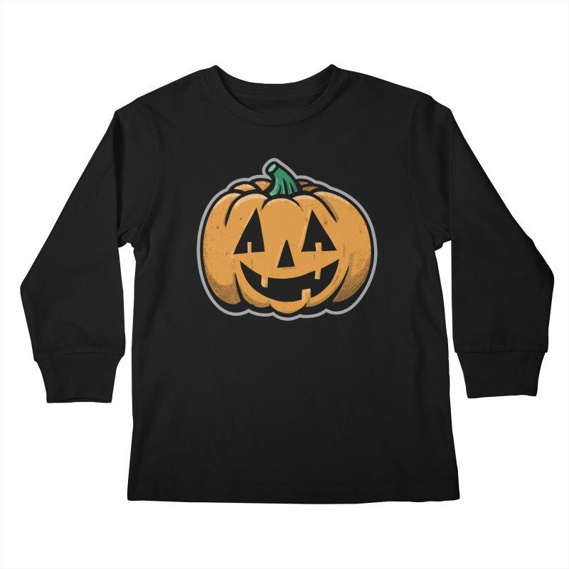 Jack-O-Lantern - for black shirts Kids Longsleeve T-Shirt by Animal Monster Robot