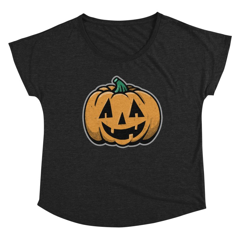 Jack-O-Lantern - for black shirts Women's Scoop Neck by Animal Monster Robot