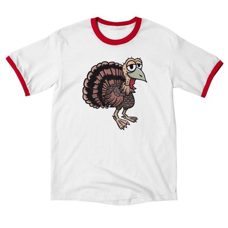 Happy Little Turkey Men's T-Shirt by Animal Monster Robot