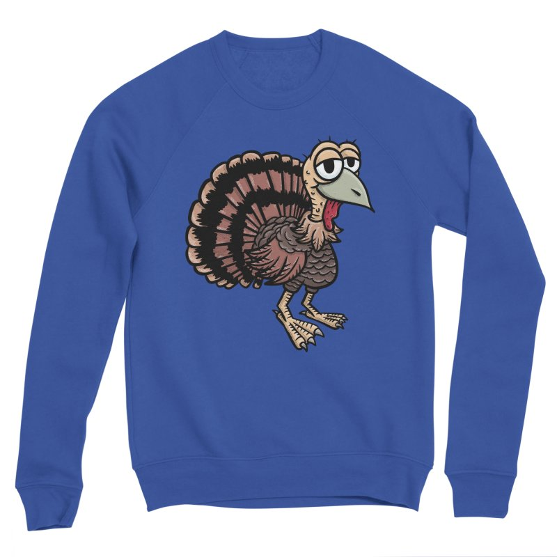 Happy Little Turkey Men's Sweatshirt by Animal Monster Robot