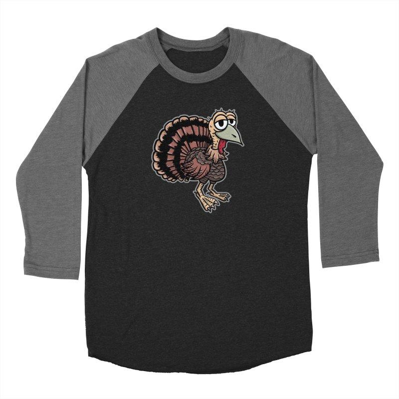 Happy Little Turkey - for black shirts Women's Longsleeve T-Shirt by Animal Monster Robot