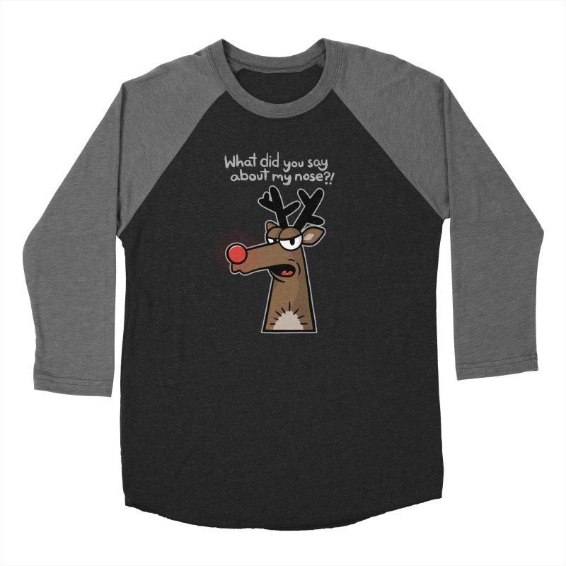 Rude Olph - for dark shirts Women's Longsleeve T-Shirt by Animal Monster Robot