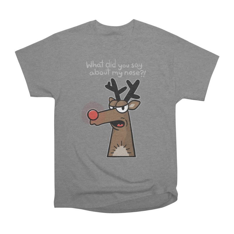 Rude Olph - for dark shirts Men's T-Shirt by Animal Monster Robot