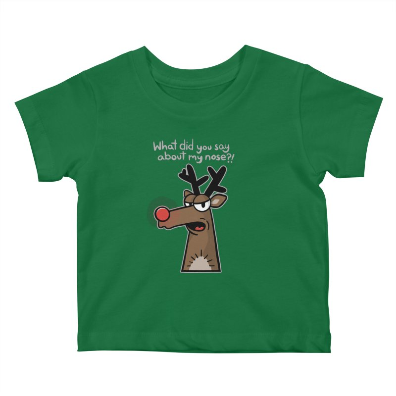 Rude Olph - for dark shirts Kids Baby T-Shirt by Animal Monster Robot