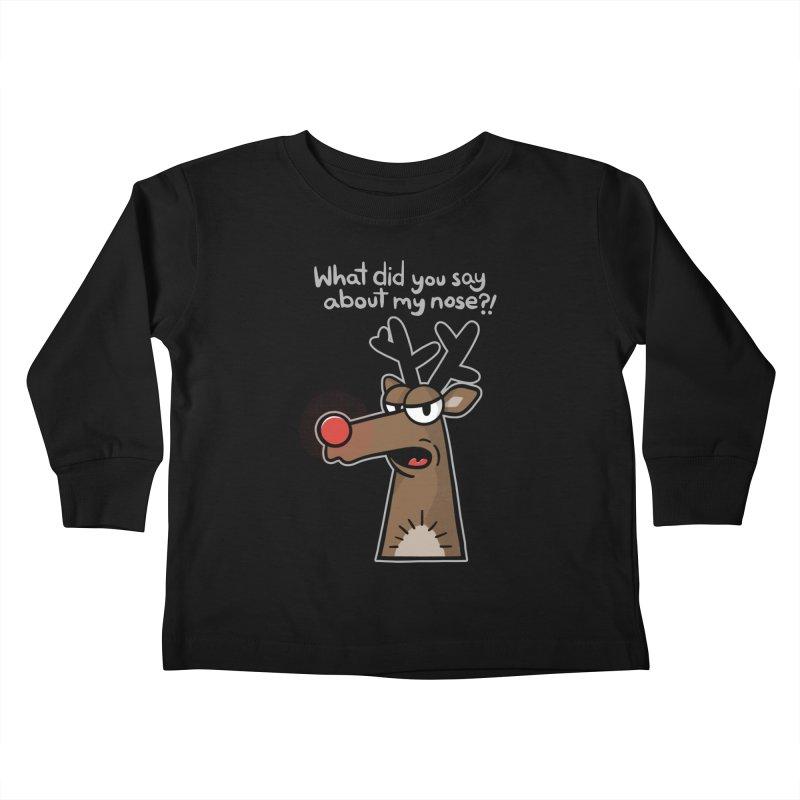 Rude Olph - for dark shirts Kids Toddler Longsleeve T-Shirt by Animal Monster Robot