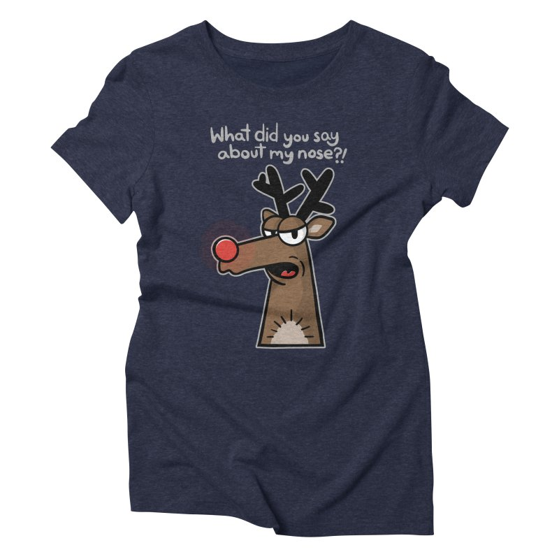 Rude Olph - for dark shirts Women's T-Shirt by Animal Monster Robot