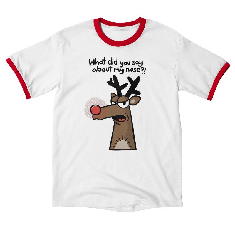 Rude Olph Men's T-Shirt by Animal Monster Robot