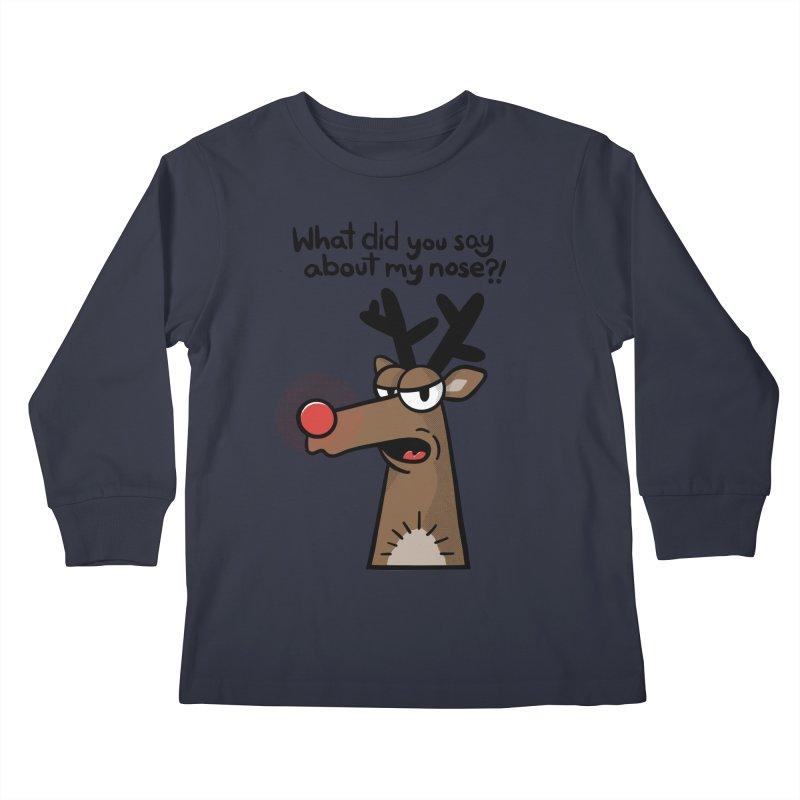 Rude Olph Kids Longsleeve T-Shirt by Animal Monster Robot