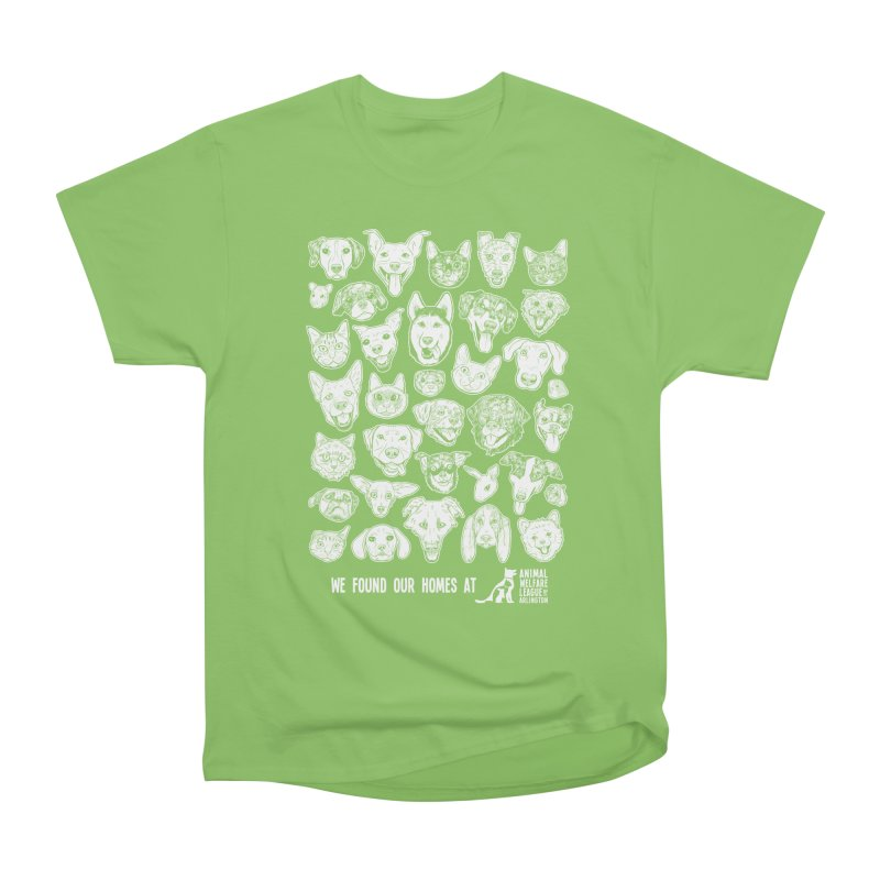 We Found Our Homes (white) - available in various styles & colors Men's Heavyweight T-Shirt by Animal Welfare League of Arlington Shop