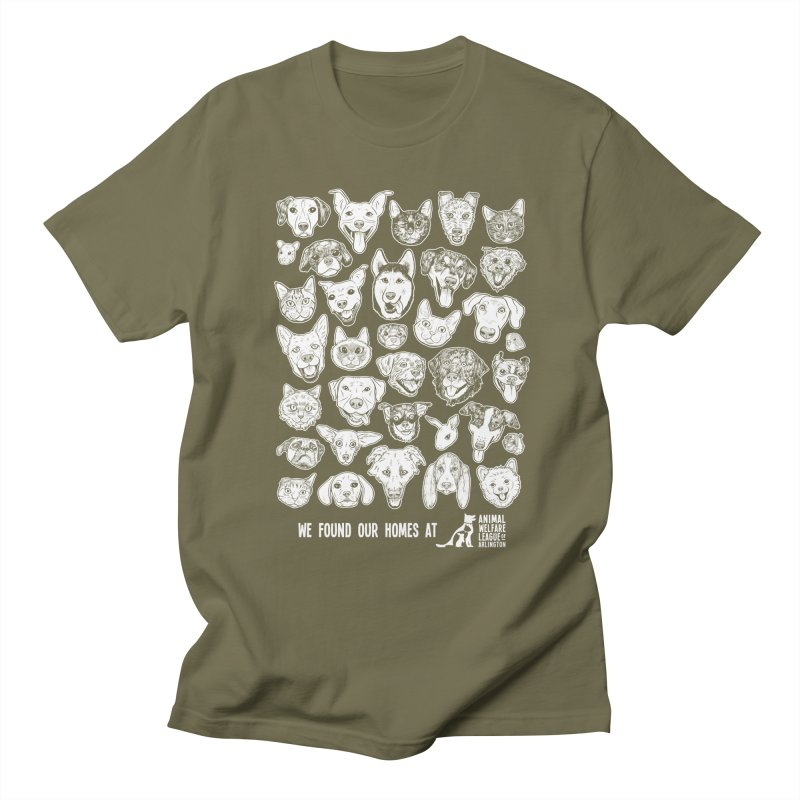 We Found Our Homes (white) - available in various styles & colors Women's Regular Unisex T-Shirt by Animal Welfare League of Arlington Shop