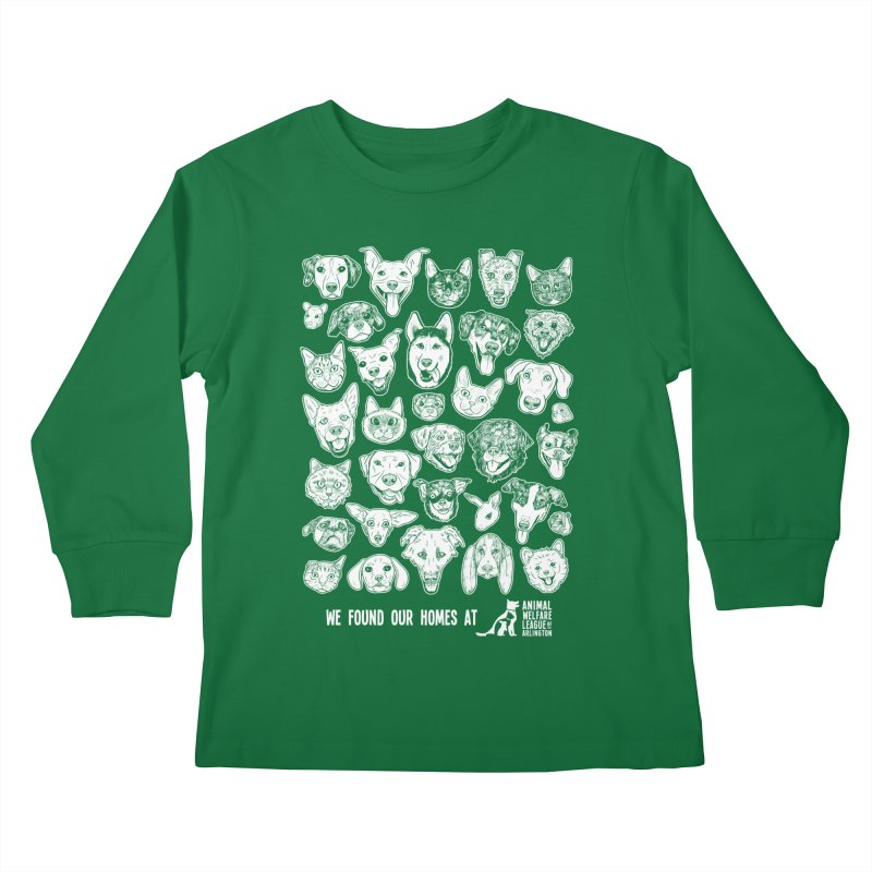 We Found Our Homes (white) - available in various styles & colors Kids Longsleeve T-Shirt by Animal Welfare League of Arlington Shop