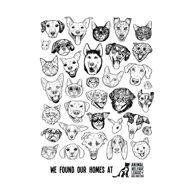 We Found Our Homes (black) - available in various styles & colors Men's T-Shirt by Animal Welfare League of Arlington Shop