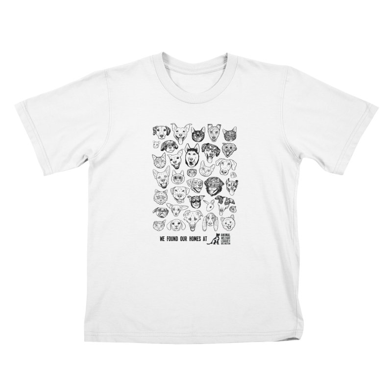 We Found Our Homes (black) - available in various styles & colors Kids T-Shirt by Animal Welfare League of Arlington Shop