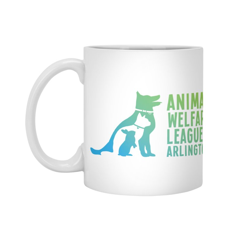 AWLA Logo - available in various styles & colors in Standard Mug White by Animal Welfare League of Arlington Shop