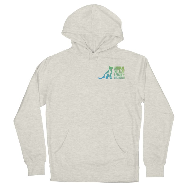 AWLA Logo - available in various styles & colors in Men's French Terry Pullover Hoody Heather Oatmeal by Animal Welfare League of Arlington Shop