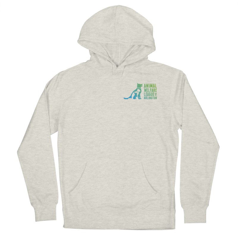 AWLA Logo - available in various styles & colors in Men's Pullover Hoody Heather Oatmeal by Animal Welfare League of Arlington Shop