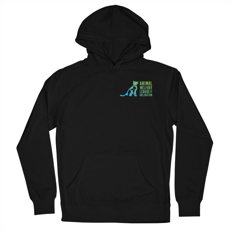 AWLA Logo - available in various styles & colors Men's French Terry Pullover Hoody by Animal Welfare League of Arlington Shop