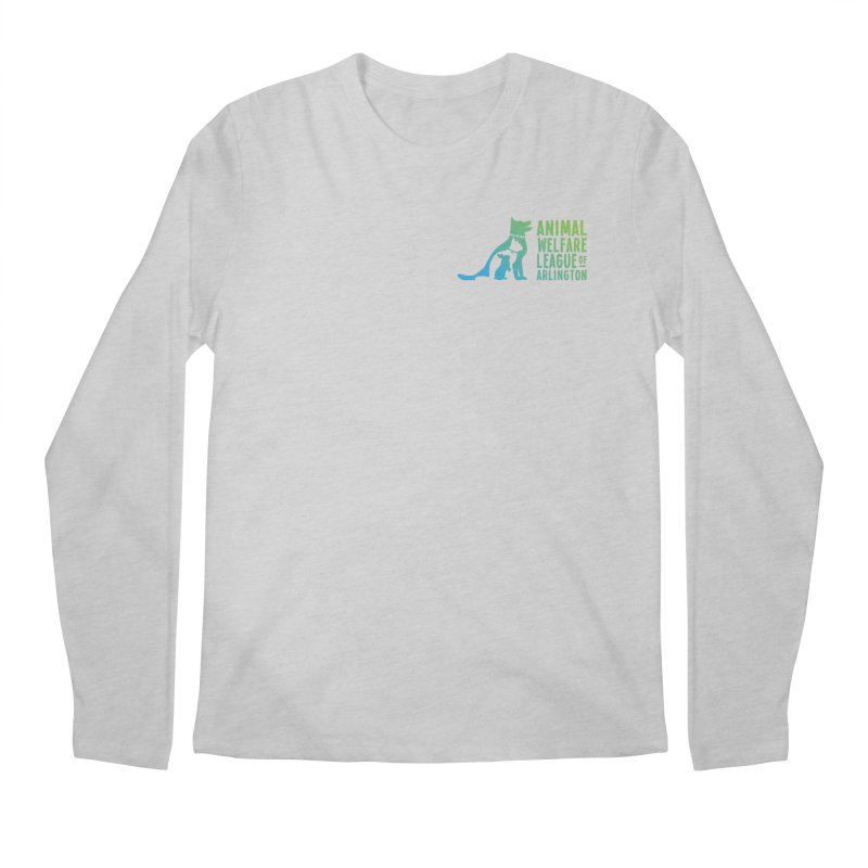 AWLA Logo - available in various styles & colors Men's Regular Longsleeve T-Shirt by Animal Welfare League of Arlington Shop