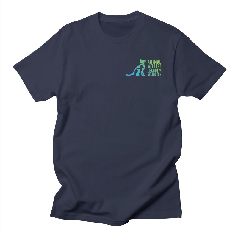 AWLA Logo - available in various styles & colors Men's Regular T-Shirt by Animal Welfare League of Arlington Shop