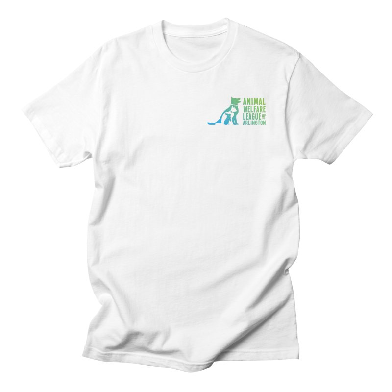 AWLA Logo - available in various styles & colors in Men's Regular T-Shirt White by Animal Welfare League of Arlington Shop