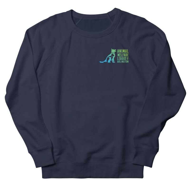 AWLA Logo - available in various styles & colors Women's French Terry Sweatshirt by Animal Welfare League of Arlington Shop