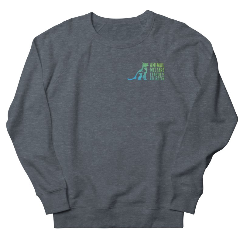 AWLA Logo - available in various styles & colors Men's French Terry Sweatshirt by Animal Welfare League of Arlington Shop