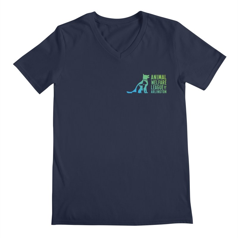 AWLA Logo - available in various styles & colors Men's Regular V-Neck by Animal Welfare League of Arlington Shop