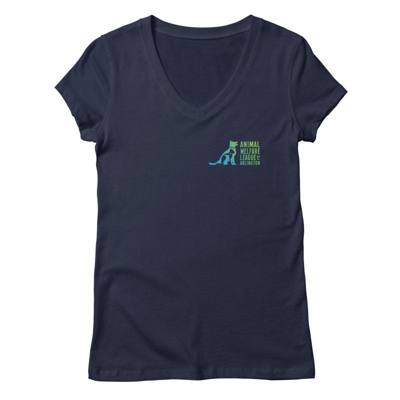AWLA Logo - available in various styles & colors Women's Regular V-Neck by Animal Welfare League of Arlington Shop