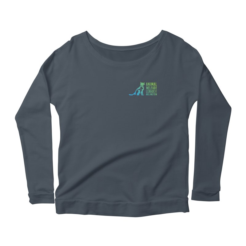 AWLA Logo - available in various styles & colors Women's Scoop Neck Longsleeve T-Shirt by Animal Welfare League of Arlington Shop