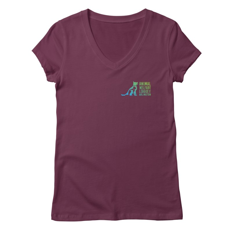 AWLA Logo - available in various styles & colors Women's Regular V-Neck by Animal Welfare League of Arlington Shop