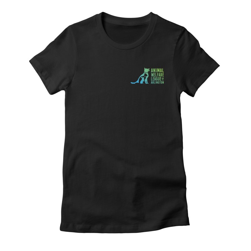 AWLA Logo - available in various styles & colors Women's Fitted T-Shirt by Animal Welfare League of Arlington Shop