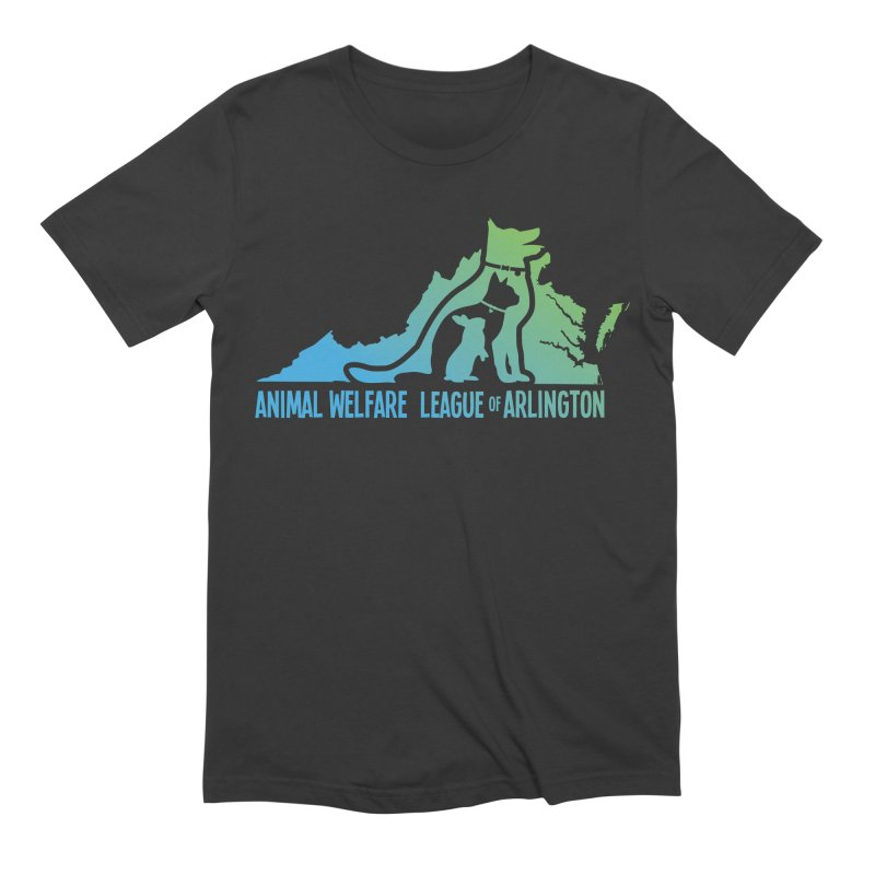 AWLA Virginia State - COLOR in Men's Extra Soft T-Shirt Smoke by Animal Welfare League of Arlington Shop