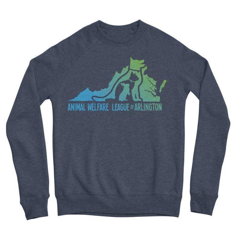 AWLA Virginia State - COLOR Men's Sponge Fleece Sweatshirt by Animal Welfare League of Arlington Shop