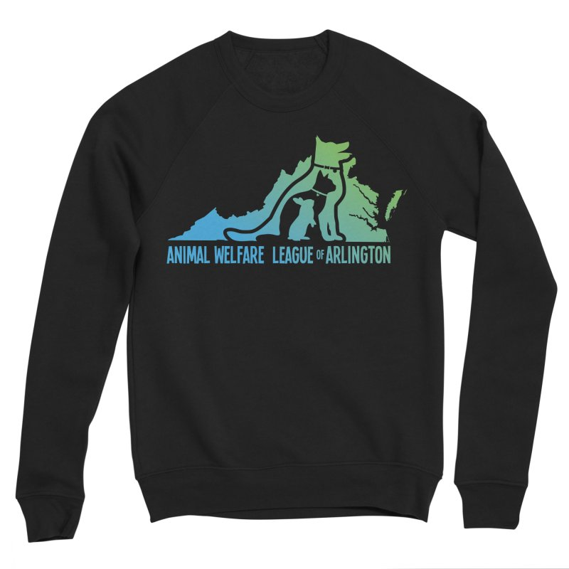 AWLA Virginia State - COLOR Men's Sponge Fleece Sweatshirt by Animal Welfare League of Arlington Shop
