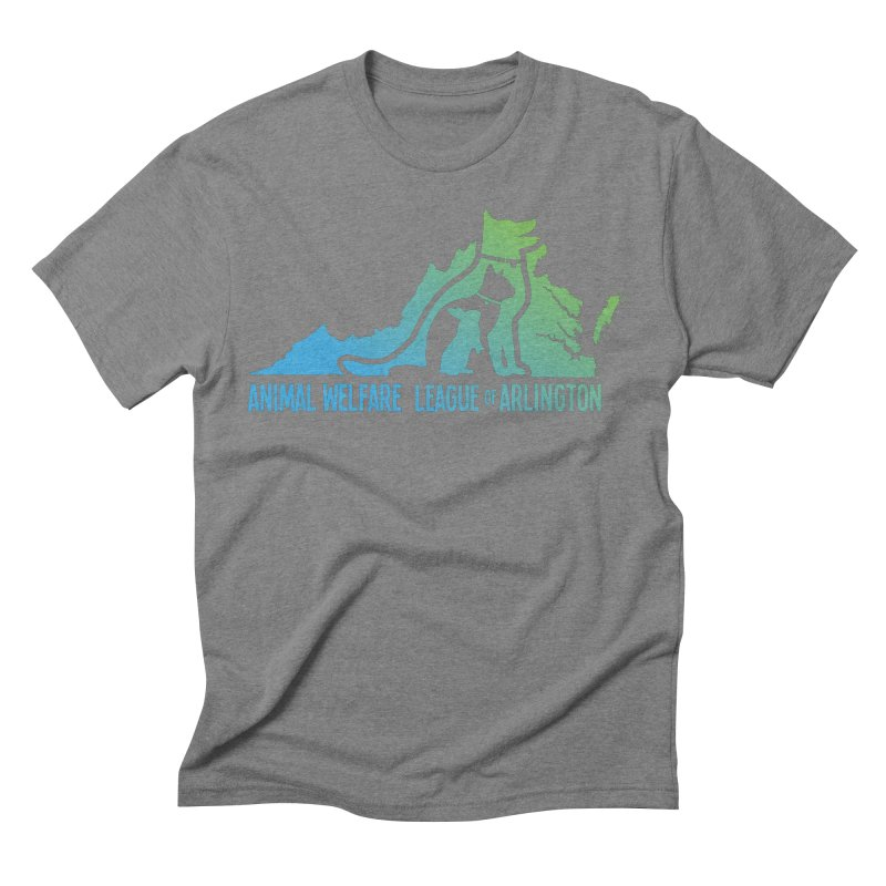 AWLA Virginia State - COLOR Men's Triblend T-Shirt by Animal Welfare League of Arlington Shop