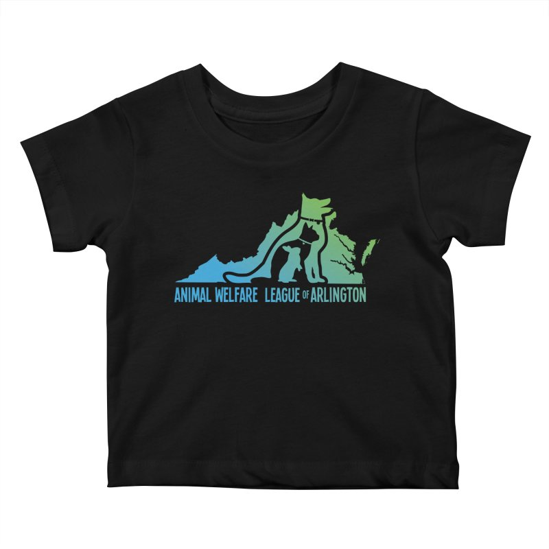 AWLA Virginia State - COLOR Kids Baby T-Shirt by Animal Welfare League of Arlington Shop