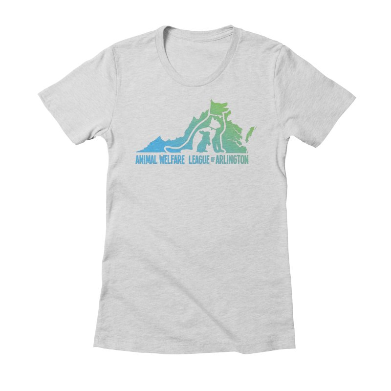 AWLA Virginia State - COLOR Women's Fitted T-Shirt by Animal Welfare League of Arlington Shop