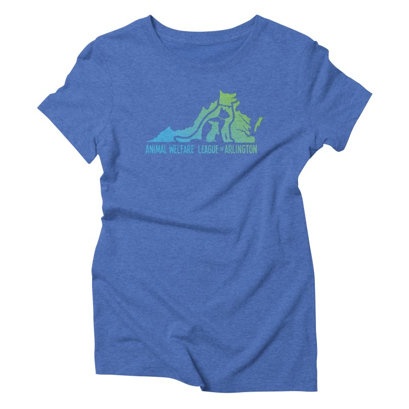 AWLA Virginia State - COLOR Women's Triblend T-Shirt by Animal Welfare League of Arlington Shop