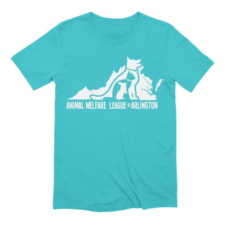 AWLA Virginia State - WHITE in Men's Extra Soft T-Shirt Pacific Blue by Animal Welfare League of Arlington Shop